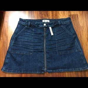 Madewell jean skirt